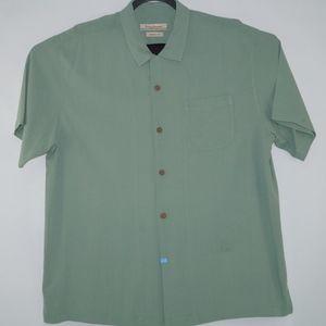Tommy Bahama Mens Green Original Fit shirt Size XL